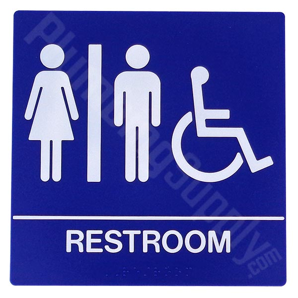Restaurant Bathroom Signs restaurant, office, commercial restroom signs