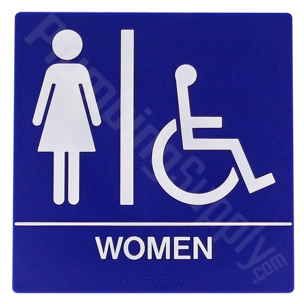 Women's Square Restroom Sign - 8