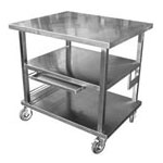 Mobile work table cart