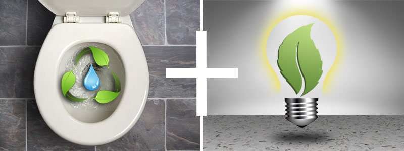 Create a water/energy efficient bathroom in your home today