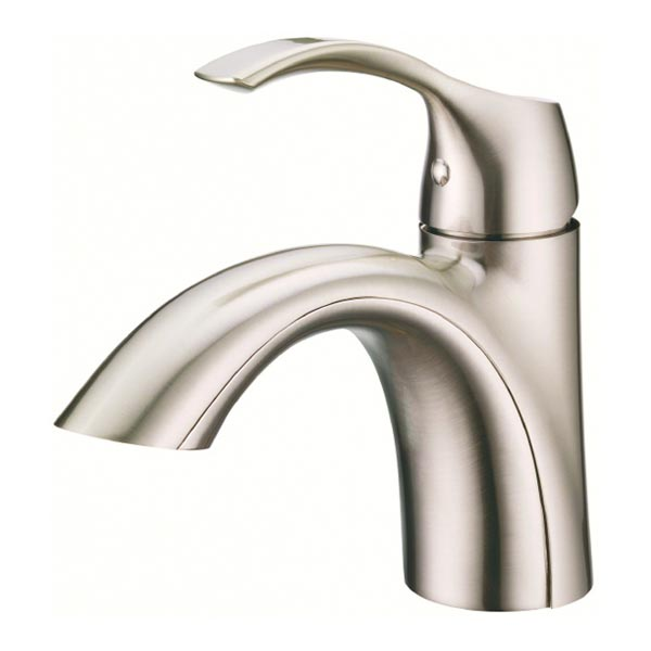 Danze antioch bathroom sink and tub shower faucets - Single hole bathroom faucets brushed nickel ...