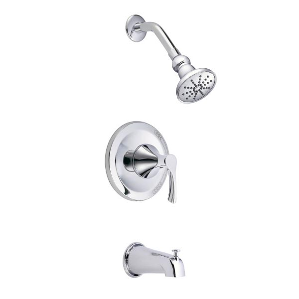 Antioch series chrome tub and shower system