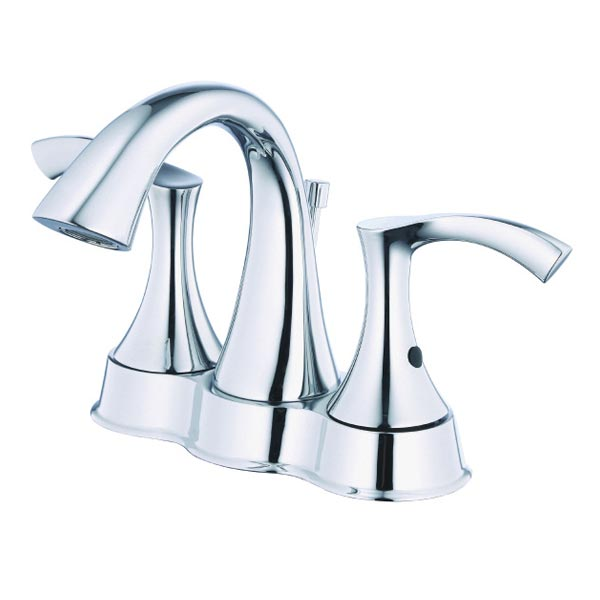 Antioch series chrome two handle centerset bathroom faucet