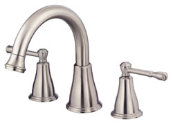 Image of the Eastham series Roman tub faucet, shown in Tumbled Bronze finish