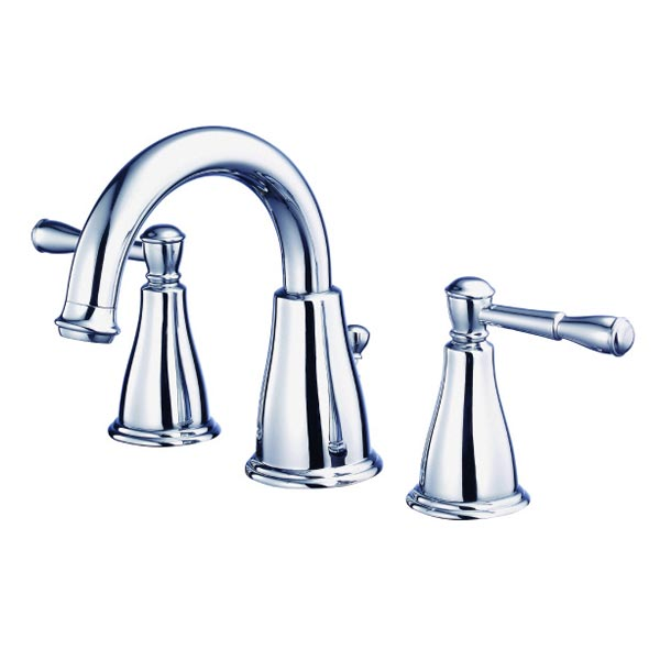 Danze chrome two handle widespread bathroom faucet