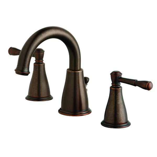 Danze tumbled bronze two handle widespread bathroom faucet