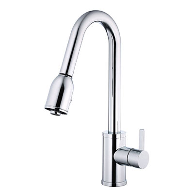 Danze Amalfi collection single handle kitchen faucet with pulldown spout