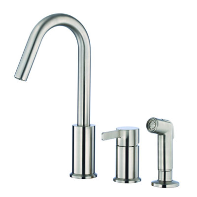Danze Amalfi collection single handle kitchen faucet with side spray