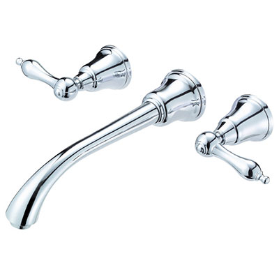 Danze Fairmont collection two handle wall mounted bathroom faucet