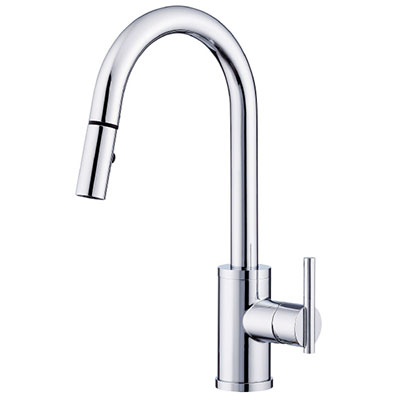 Danze Parma collection single handle trimline kitchen faucet with pulldown spout