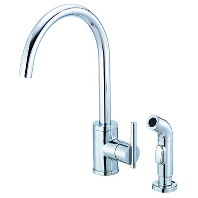Danze Parma collection single handle kitchen faucet with high-rise spout
