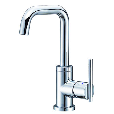 collection single handle trimline squared gooseneck bathroom faucet
