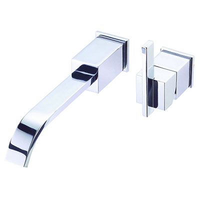 Danze Sirius collection single handle vessel-style wall mount bathroom faucet