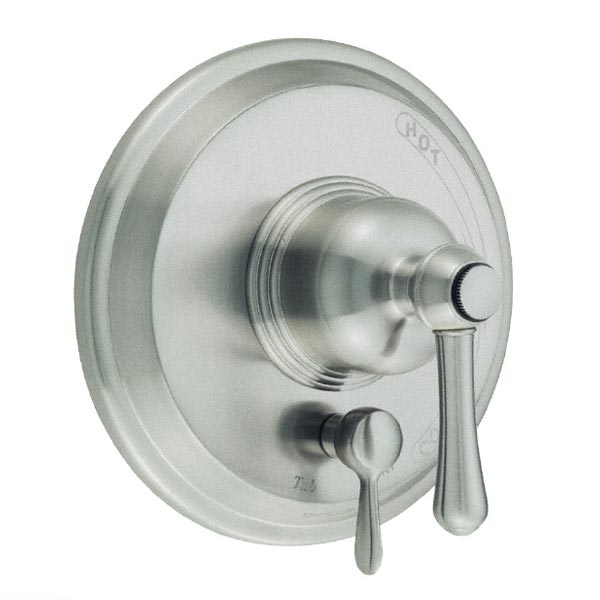 Brushed Nickel shower handle with diverter