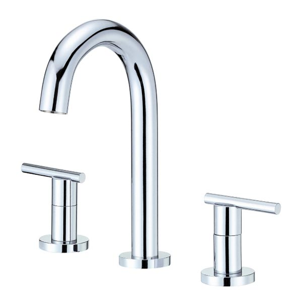 faucet arc handle brushed bathroom in hole side with nickel faucets p high fairmont sink single danze