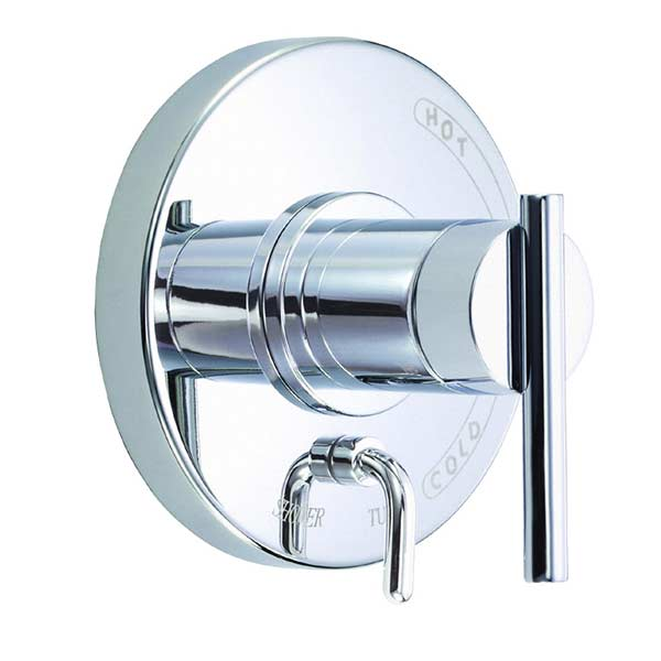 Danze Parma chrome pressure balance single handle with diverter valve trim kit