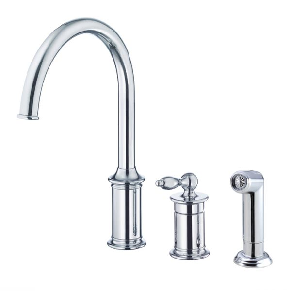 Traditional style Prince Collection kitchen faucets by Danze – Single Handle Kitchen Faucet with Side Spray