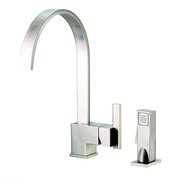stainless steel single handle kitchen faucet