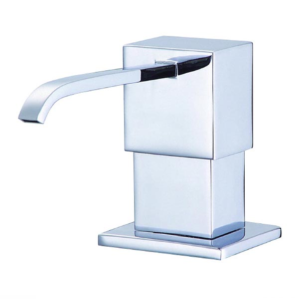 Chrome soap and lotion dispenser