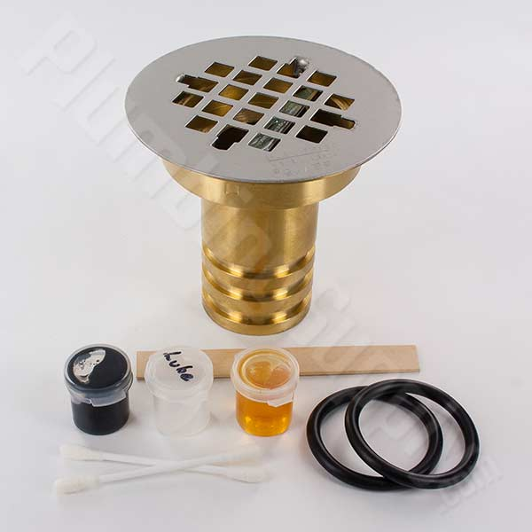 Example of the top down installation Davke  shower drain
