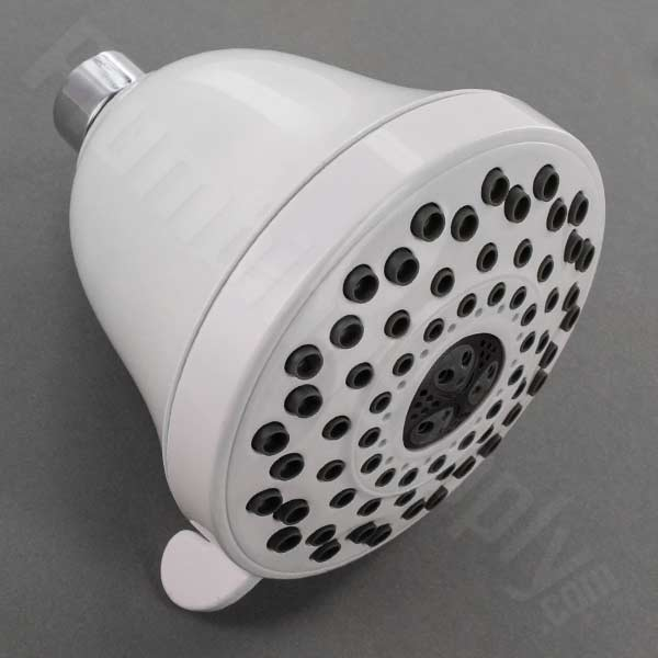 Classic Style 5 Spray/Massage Shower Head, Shown In White