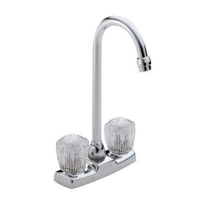 delta bar or prep faucet with round clear acrylic handles - Delta Faucets
