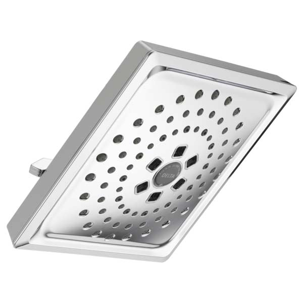 Delta H2OKinetic square three-setting raincan shower head