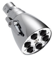 Delta 6-jet shower head with all metal construction