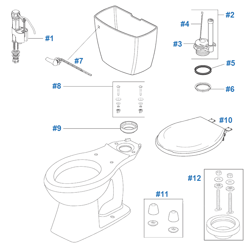 Marvelous Parts Of A Toilet Seat Images