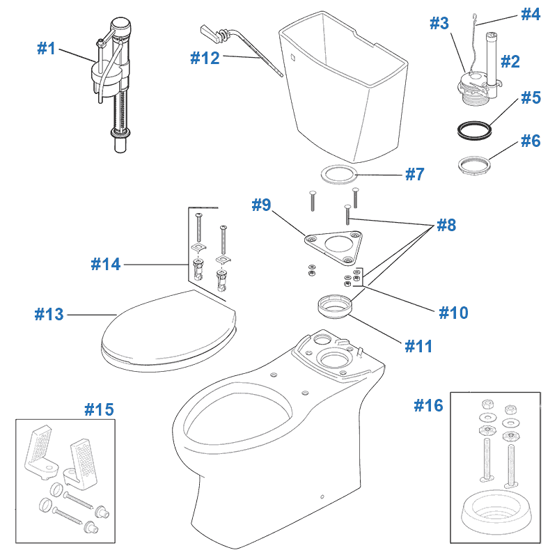 repair  u0026 replacement parts for delta riosa toilets