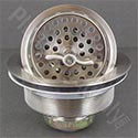 Large wing-nut style basket strainer