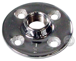 Deluxe chrome floor flange