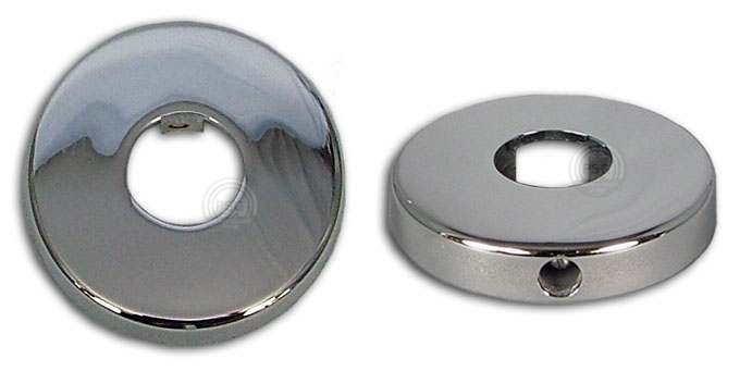 Deluxe Chrome Escutecheon With Set Screw