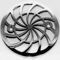 Shield round Kohler drain cover