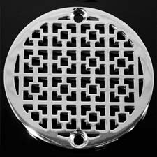 Squares pattern round drain