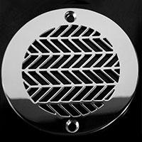 Wheat pattern round drain