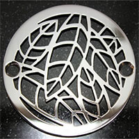 Almond leaves pattern round drain cover