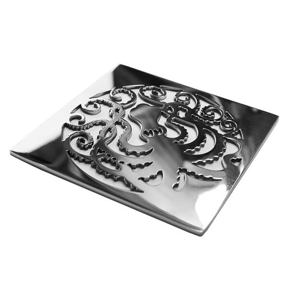 Octopus square shower drain cover