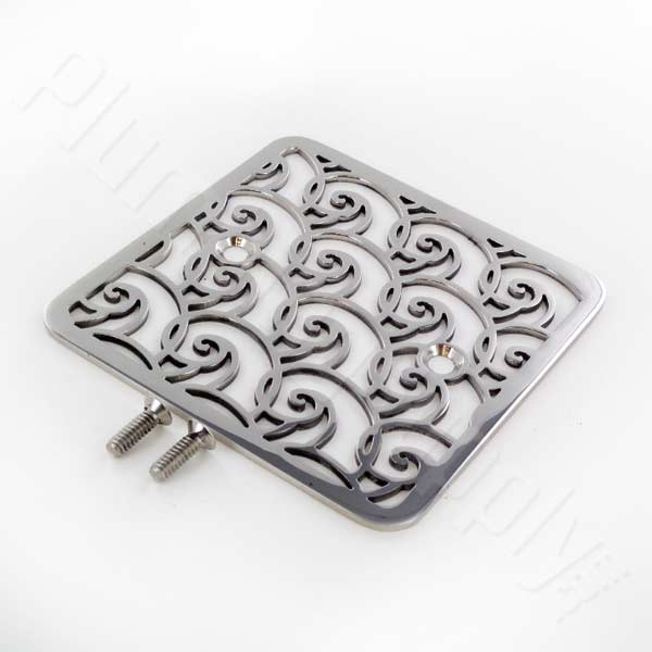 Waves square shower drain cover