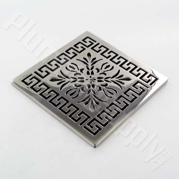 Greek Fret square shower drain cover