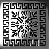Greek Fret Square Drain Cover