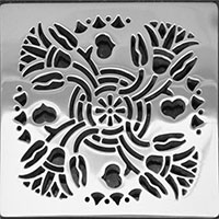 Lotus style square Ebbe drain cover