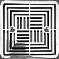 Illusions pattern square Kohler drain cover