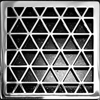 Triangle pattern square Ebbe drain cover