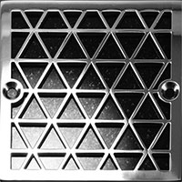 Triangle pattern square drain