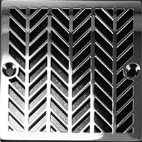Wheat pattern square drain