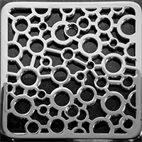Bubble pattern square Kohler drain cover