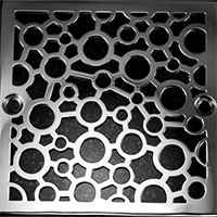 Bubble pattern square drain