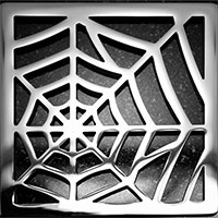 Spider web pattern square Ebbe drain cover