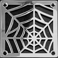 Spider web pattern square drain